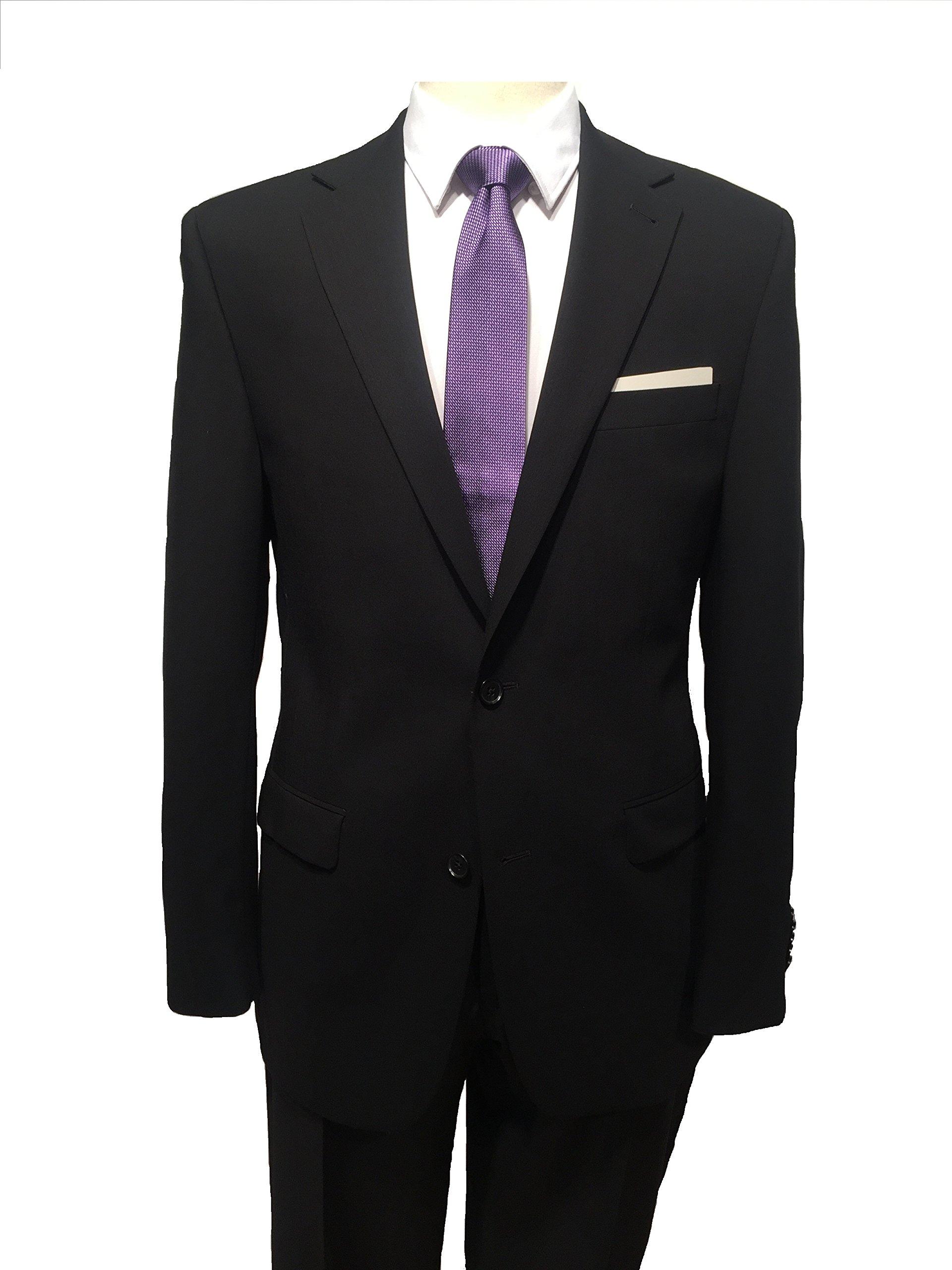 S. Cohen Men's Travel, Modern Fit Smart Suit 44 Regular Black