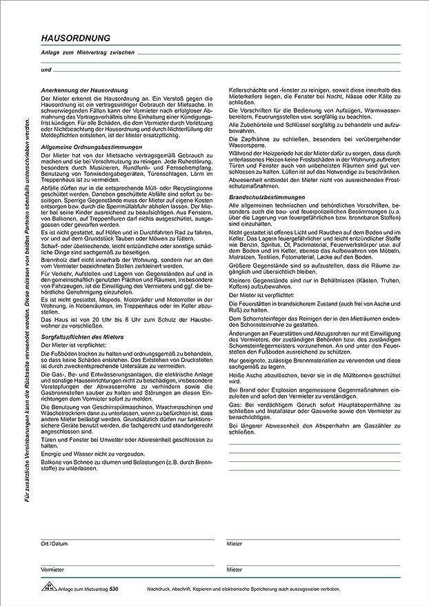 Mietvertrag Für Neubau Wohnungen 4 Seiten Gefalzt Auf Din A4