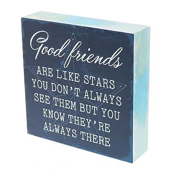 Amazon.com: Buenos amigos son como estrellas caja pared arte ...
