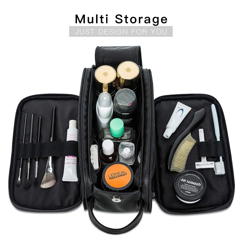 Lizzton Toiletry Bag for Men Women Large Travel Shaving Dopp Kit Water-resistant Bathroom Toiletries Organizer Bags