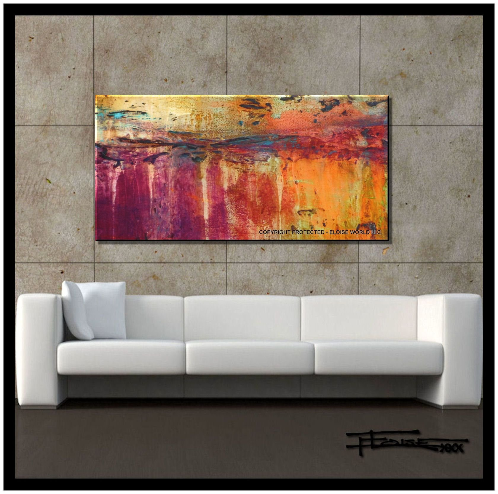 ART ON CANVAS, Modern Wall Art, Painting TRUTH Limited Edition, Hand Embellished, Giclee on canvas, Textured Abstract Painting 48 x 24 x 1.5 by ELOISE WORLD STUDIO - ELOISExxx