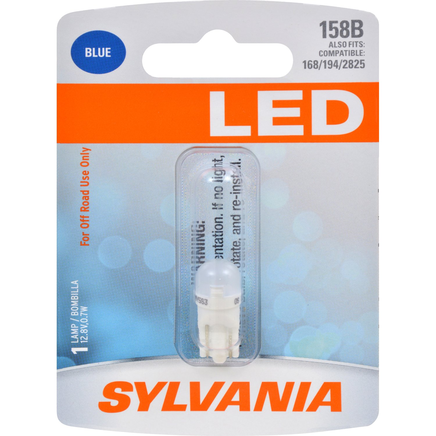 Amazon.com: SYLVANIA 158 T10 W5W Blue LED Bulb, (Contains 1 Bulb): Automotive