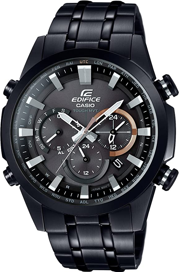 [カシオ] 腕時計 エディフィス 世界6局対応電波ソーラー EQW-T630DC-1AJF ブラック