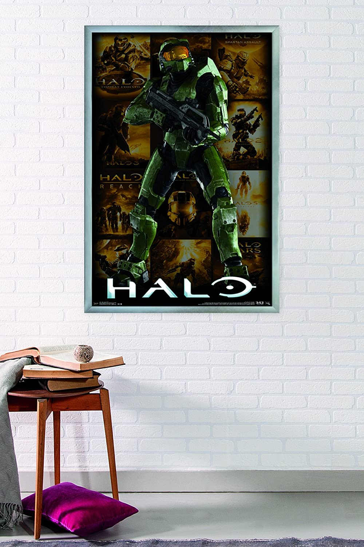 Key Art Grid Wall Poster 24.25 X 35.75 Multi FR13271BLK22X34 Trends International Halo