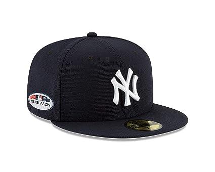 New Era New York Yankees 2018 Postseason Side Patch 59FIFTY Fitted Hat –  Navy (7 da940836b87b