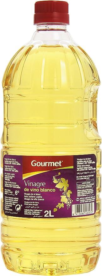 Gourmet - Vinagre de vino blanco - Acidez 6° - 2 l: Amazon.es ...