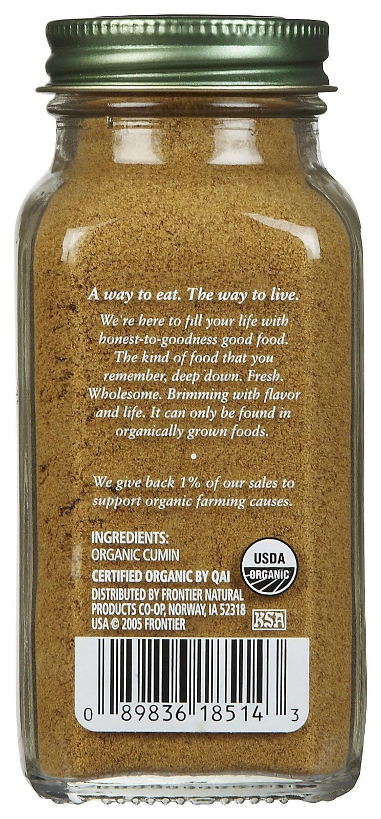 Simply Organic Cumin Seed Ground Certified Organic, 2.31 oz Containers, 3 pk