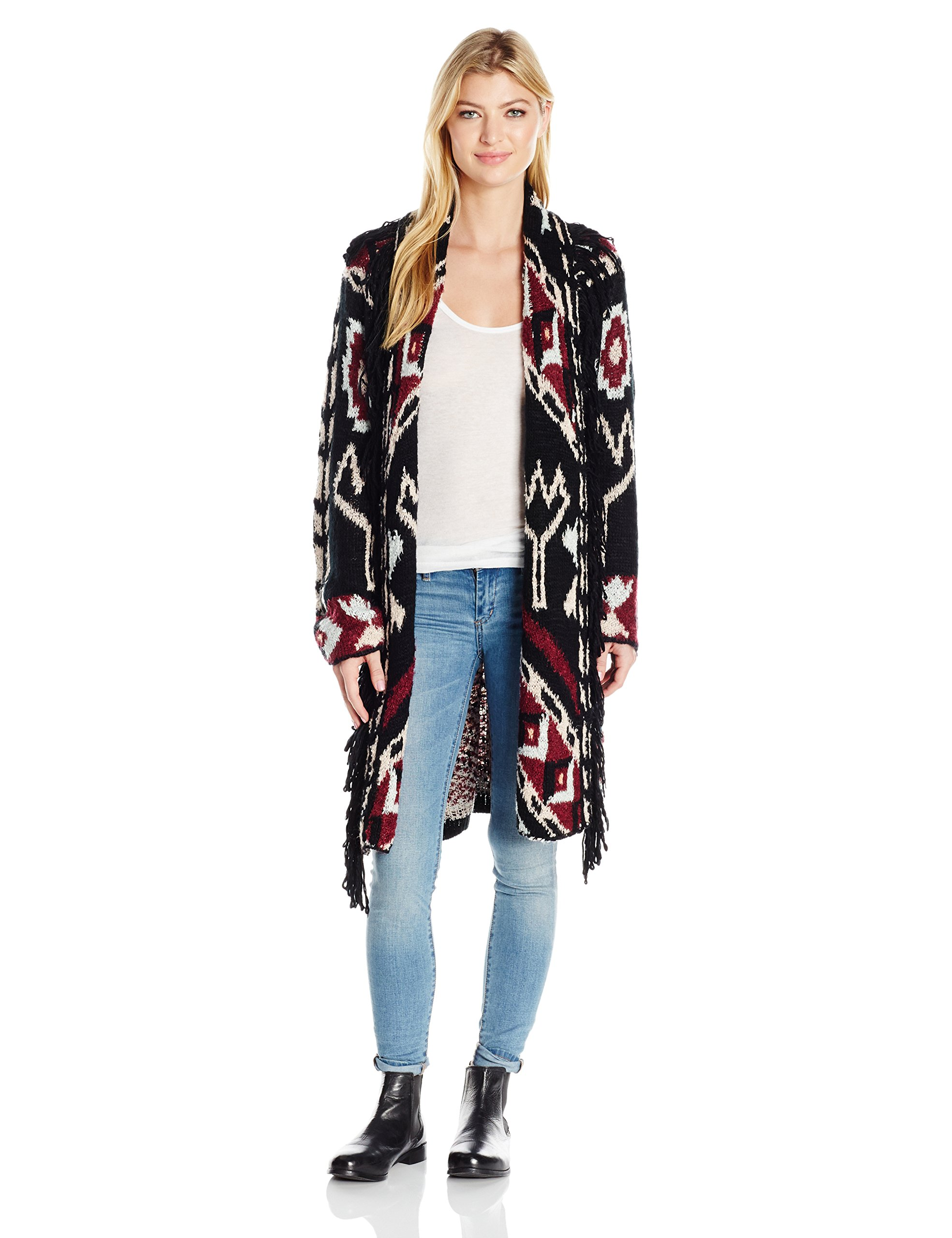 Somedays Lovin Women's Strange Fascination Printed Sweater Cardigan, Multi, X-Small/Small by Somedays Lovin
