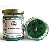 Money Drawing 6 oz Soy Spell Candle for Wealth, Financial Security, Propserity (Wiccan, Pagan, Hoodoo, Magick)