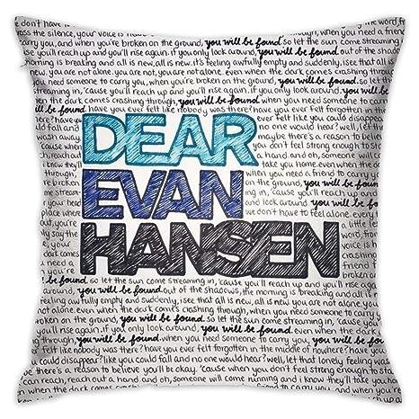 Amazon.com: Dear Evan Hansen - Funda de cojín para sofá ...