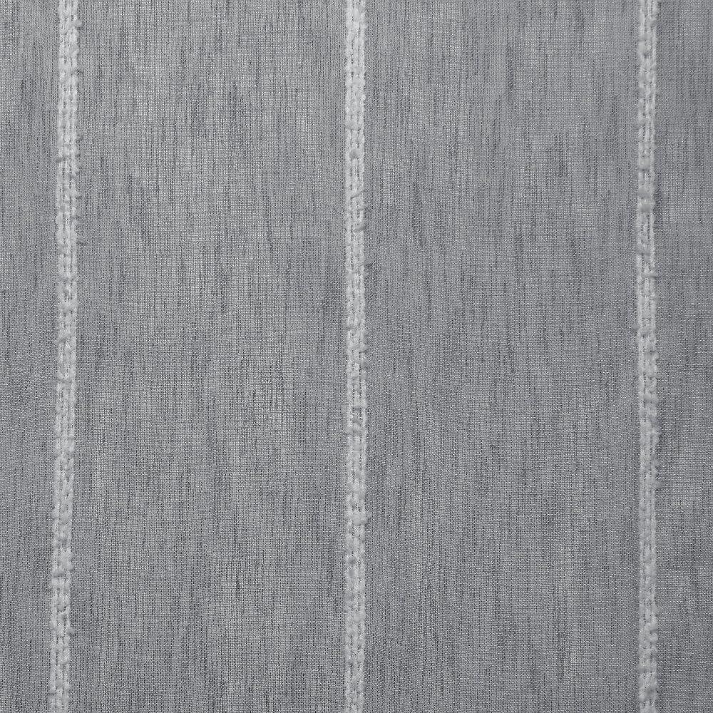 Exclusif Home Santos /à Motif /à Rayures Lin textur/é Sheer Tige de Poche fen/être Panneau de Rideau Paire 54/x 84/cm Blanc