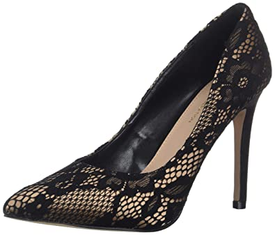 28ba2e093a6b BCBGeneration Women s Heidi Pump Black Lace 5.5