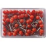 Red Moore Push Pins 1/8 inch head diameter