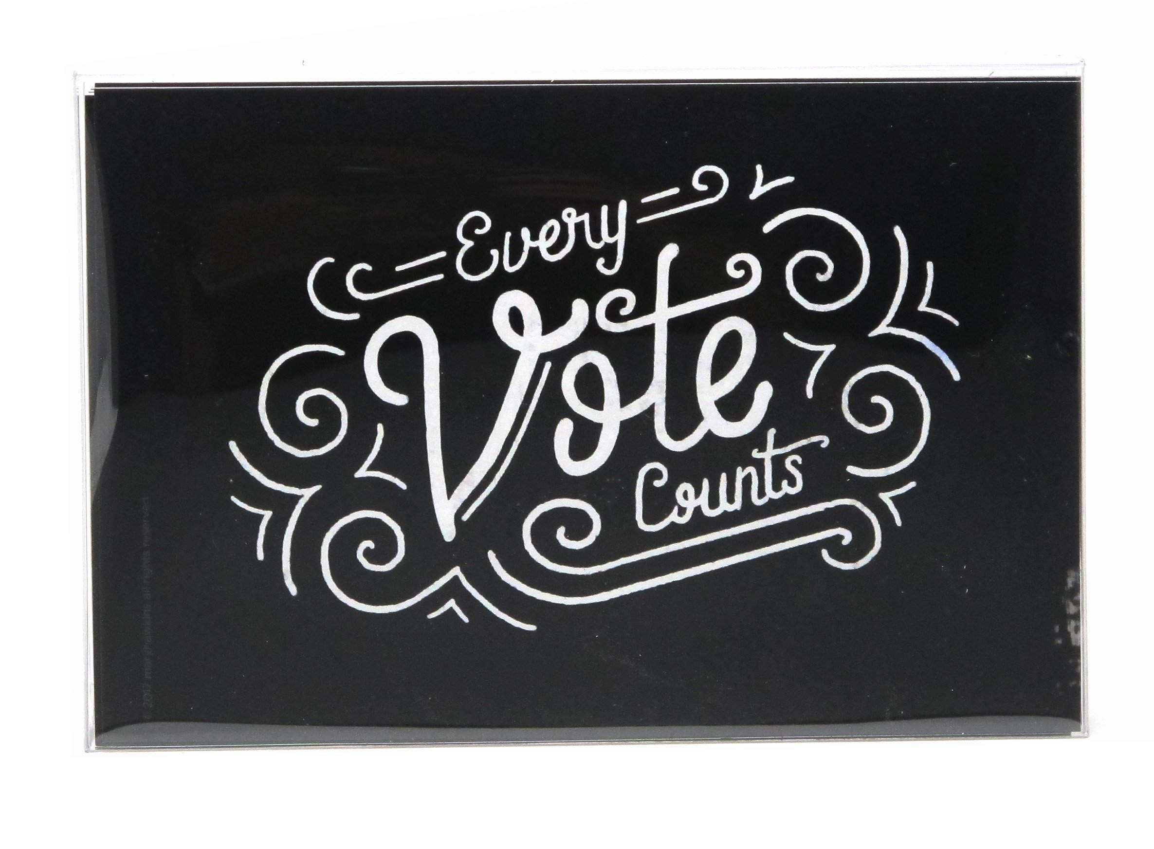Every Vote Counts Postcards. Perfect for Writing to Your Representatives or Get Out the Vote Campaigns like Postcards to Voters (Black, 60)
