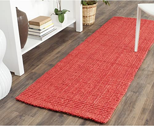 Safavieh Natural Fiber Collection NF730D Hand Woven Red Jute Runner 2 3 x 7