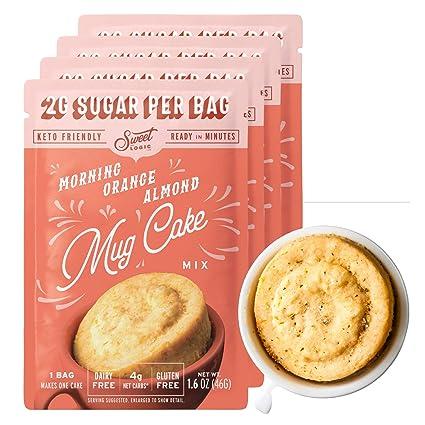 Amazon Com Sweet Logic Keto Dessert Mug Cake Mixes Sugar Free Gluten Free Keto Snack 4 Keto Mug Cake Mixes Breakfast Orange Almond Diabetic Friendly Keto Sweets And