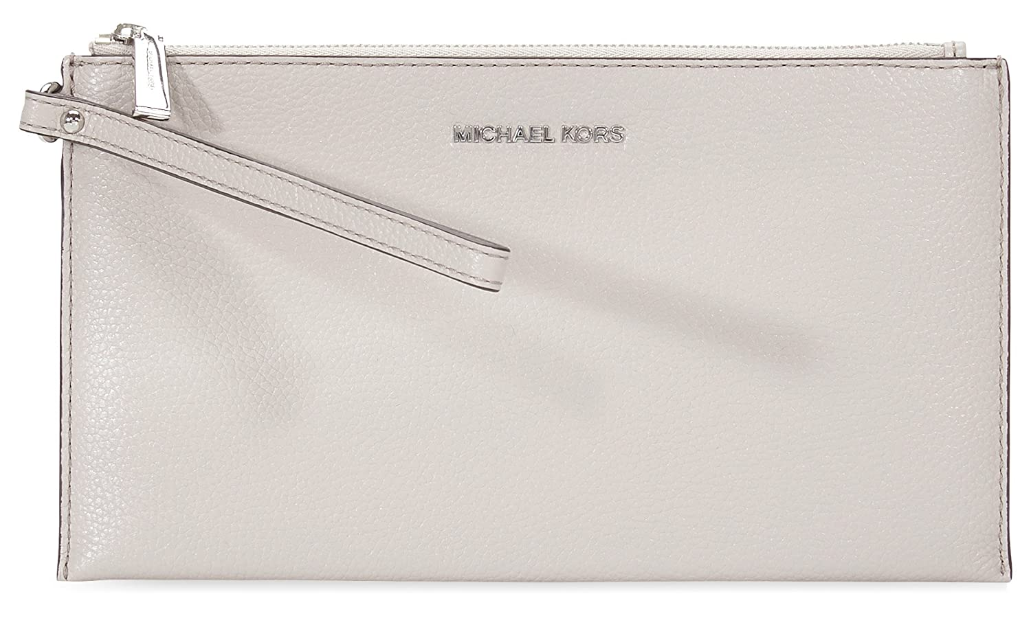 dd8ebd800cc1d Michael Kors Mercer Large Zip Leather Clutch (Cement) at Amazon Women s  Clothing store