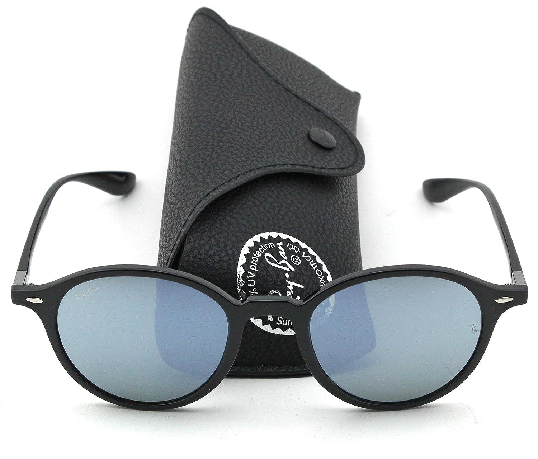 8ec21a6ea8c Amazon.com  Ray-Ban RB4237 ROUND LITEFORCE Unisex Mirrored Sunglasses  (Black Frame