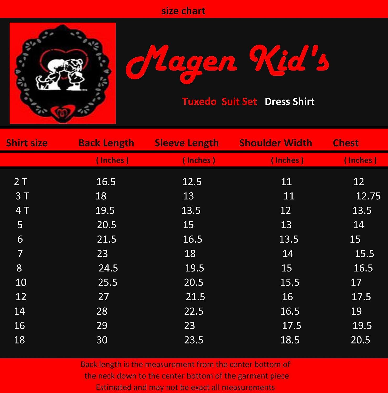 Magen Kids 3 Pc Boys Slim FIT Formal Ocean Indigo Blue Suit,Vest,Pant Set Size 1-18