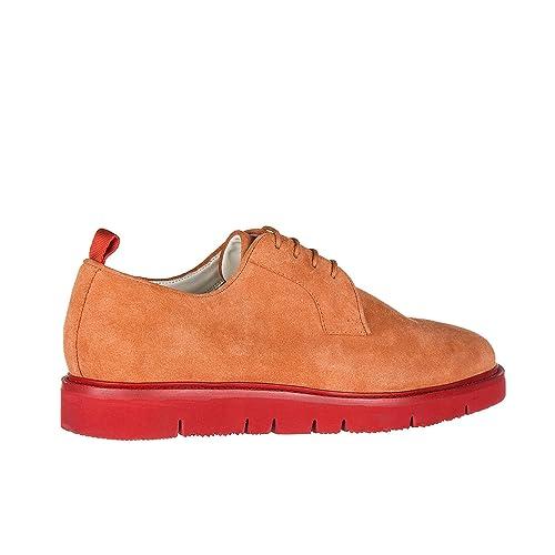 dc58df65454d ARMANI JEANS Men s Classic Suede lace up Laced Formal Shoes Derby orangene  US Size 8.5 935047 7P432 02365  Amazon.ca  Shoes   Handbags