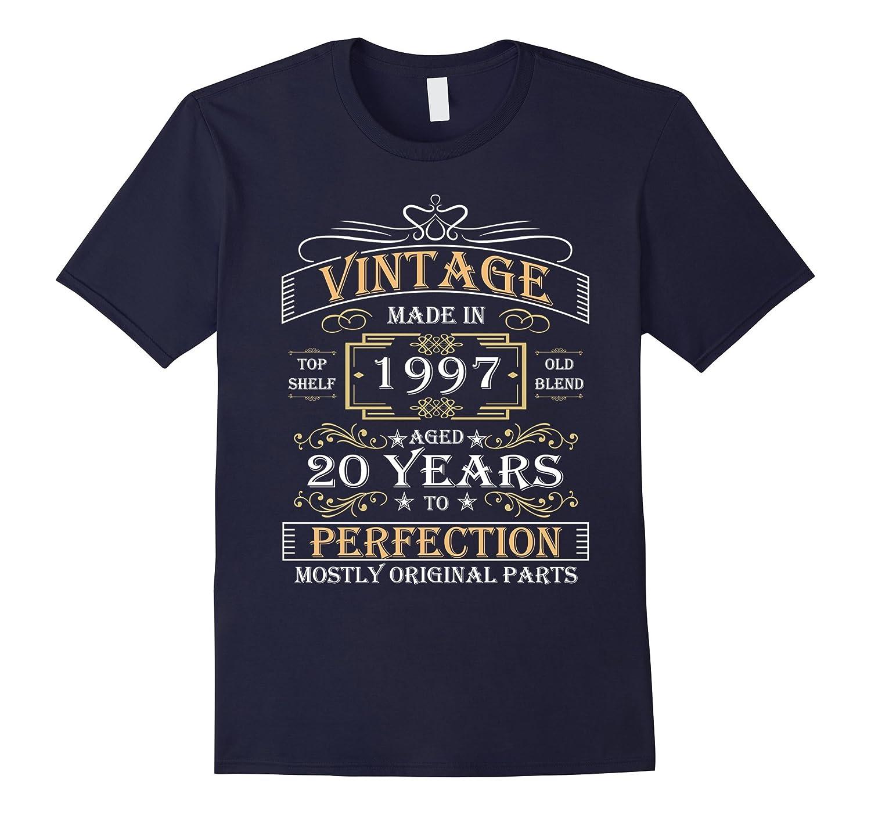Born in 1997 Tshirt 20th Birthday 20 Years Vintage Gift-TD