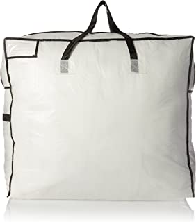 Household Essentials 2622 MightyStor Large Storage Bag with Handles | Clothing and Linen Storage Bag |  sc 1 st  Amazon.com & Amazon.com: Pack of 2 - Extra Large Clear Storage Bag for Clothing ...