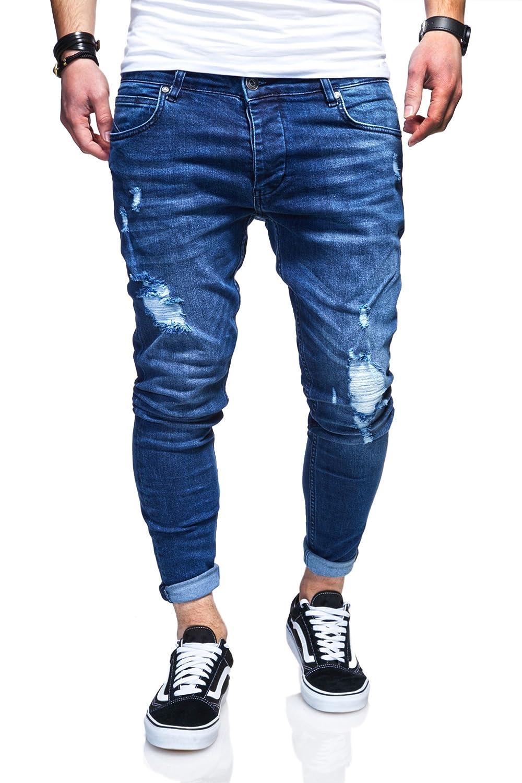 Behype Herren Destroyed Jeans-Hose 80-3496