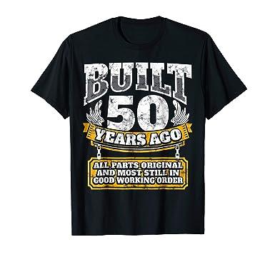 Mens Funny 50th Birthday Shirt B Day Gift Saying Age 50 Year Joke 2XL Black