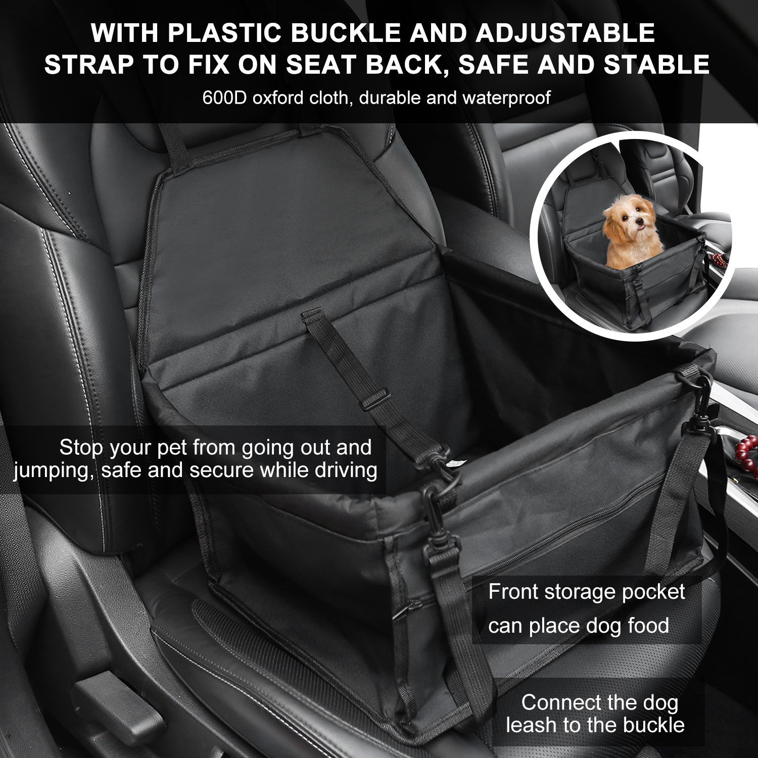 Awesome Collapsible Car Seat Pet Car Booster Seat For Small Dogs Evergreenethics Interior Chair Design Evergreenethicsorg
