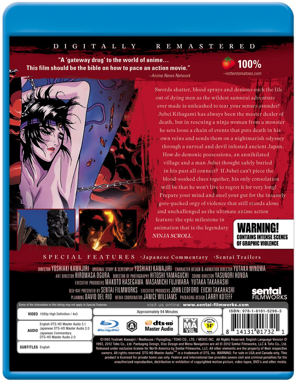 Amazon.com: Ninja Scroll [Blu-ray]: Kôichi Yamadera, Emi ...