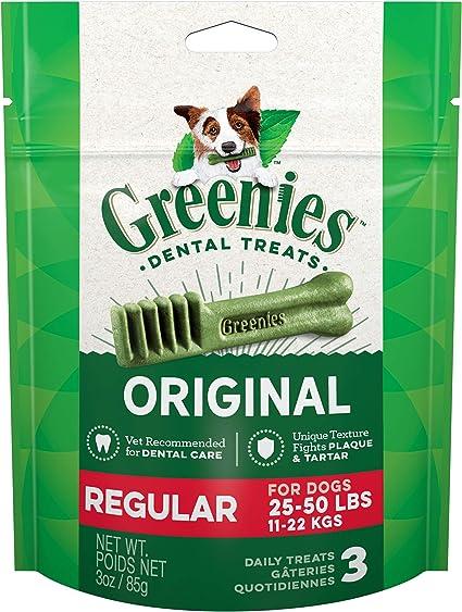 25-50lb. dogs Greenies Original Regular Natural Dental Dog Treats