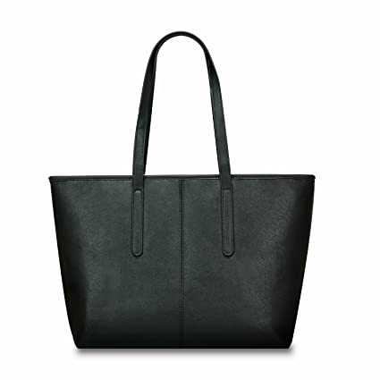 a1fdfedafe Amazon.com  Minch 906 Pu Leather Designer Tote Handbags Shoulder Bags for Women  Work on Large (Black)  Clothing