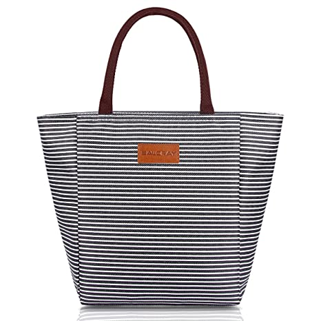 d589d2e9460e BALORAY Lunch Bag Tote Bag Lunch Bags for Women Lunch Organizer Lunch  Holder Lunch Container (G-199L Black)