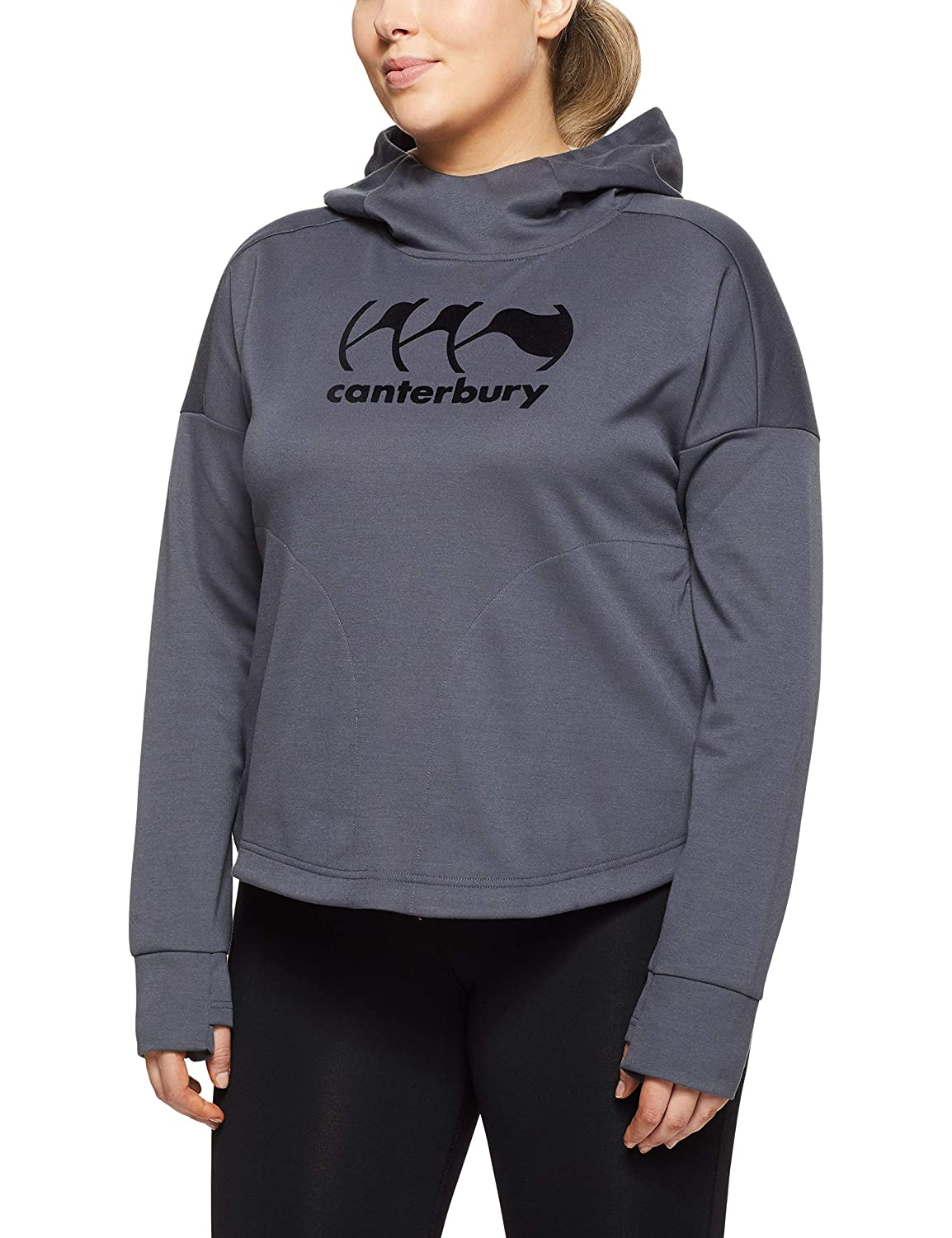 TALLA 8. Canterbury of New Zealand Vapodri Fleece Over The Head Sudadera con Capucha, Mujer
