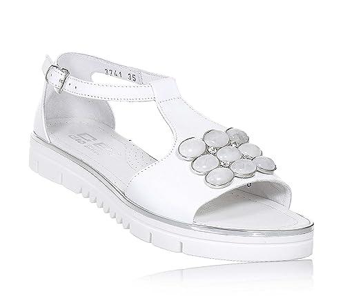 28537186e Ciao Bimbi - Sandalias de Vestir para Niña Blanco Size  34 EU  Amazon.es   Zapatos y complementos