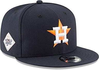 NEW ERA 9Fifty MLB Houston Astros Baycik Navy Orange Snapback Cap Adult Men Hat