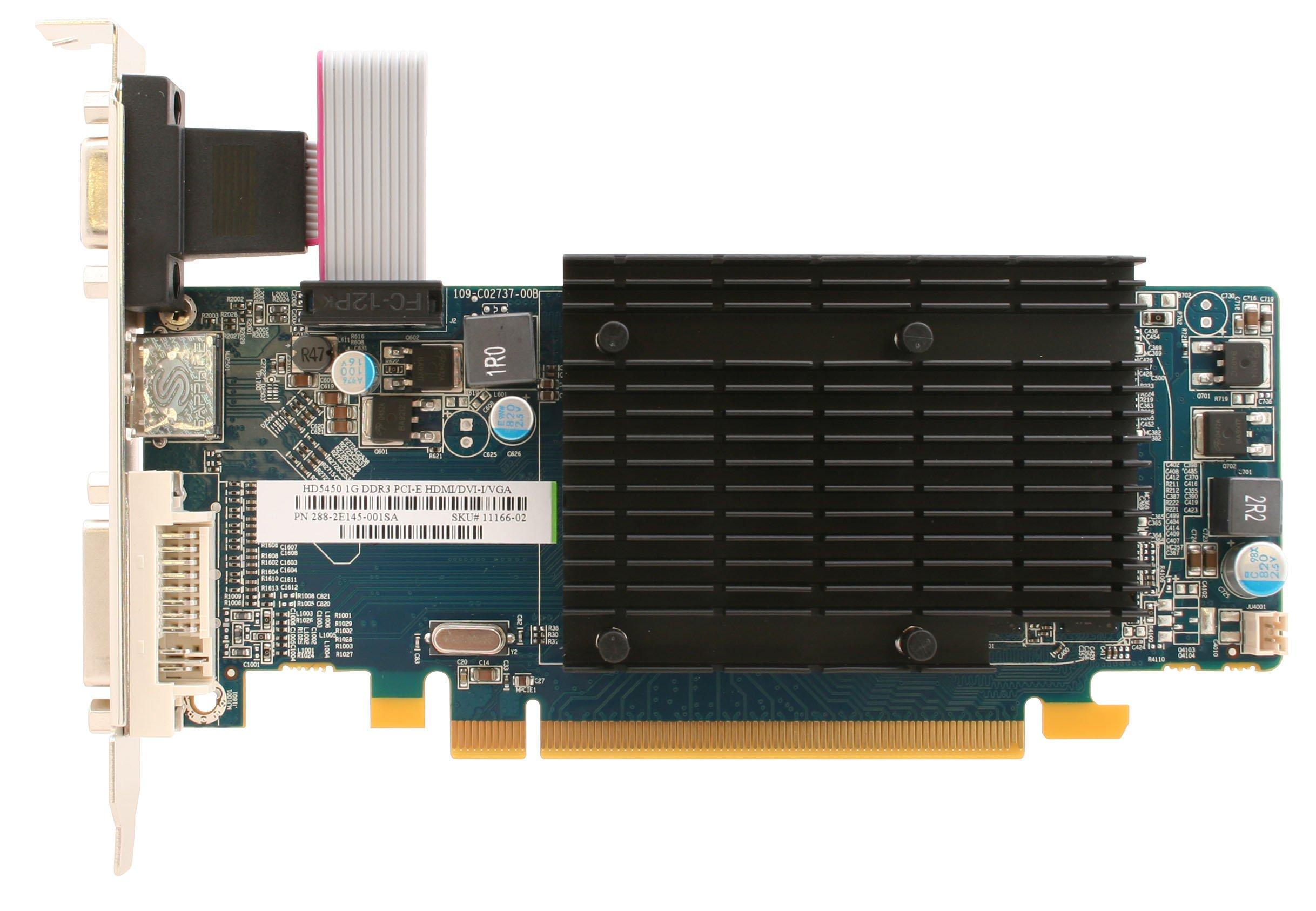 Sapphire Radeon HD 5450 1 GB DDR3 HDMI/DVI-D/VGA PCI-Express Graphics Card 100292DDR3L by Sapphire Technology (Image #1)