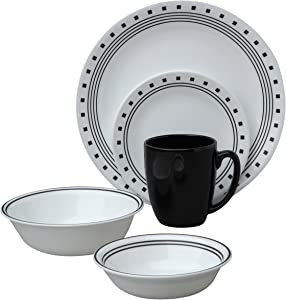 Corelle Livingware City Block 30-Piece Dinnerware Set, Service for 6