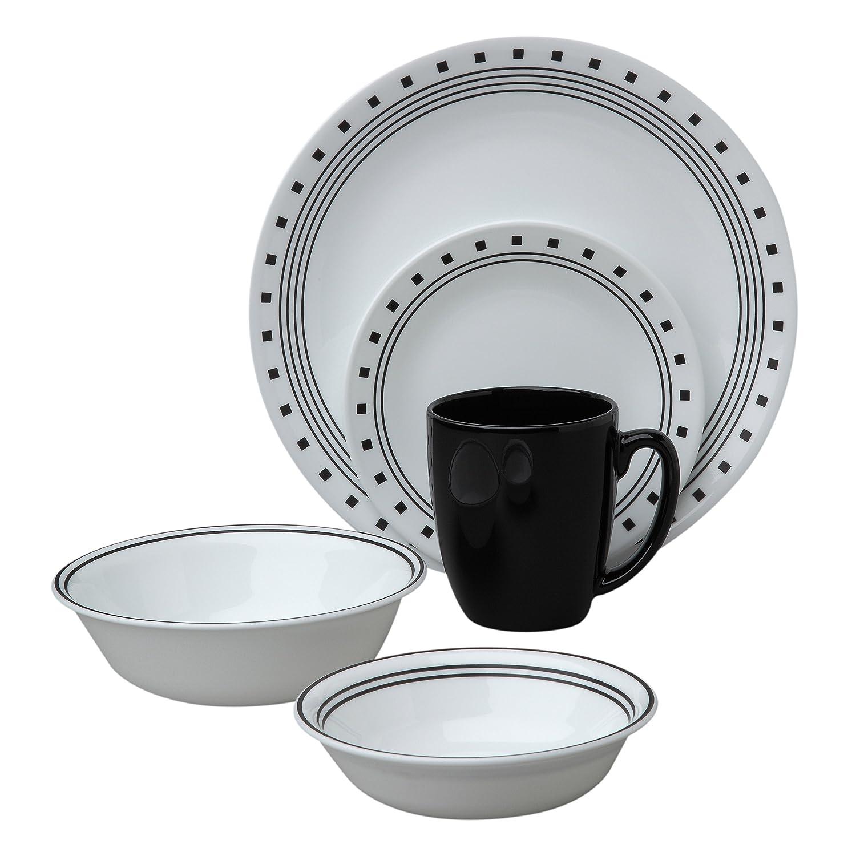 Amazon.com   Corelle Livingware City Block 30-Piece Dinnerware Set Service for 6 Plates Dinnerware Sets  sc 1 st  Amazon.com & Amazon.com   Corelle Livingware City Block 30-Piece Dinnerware Set ...