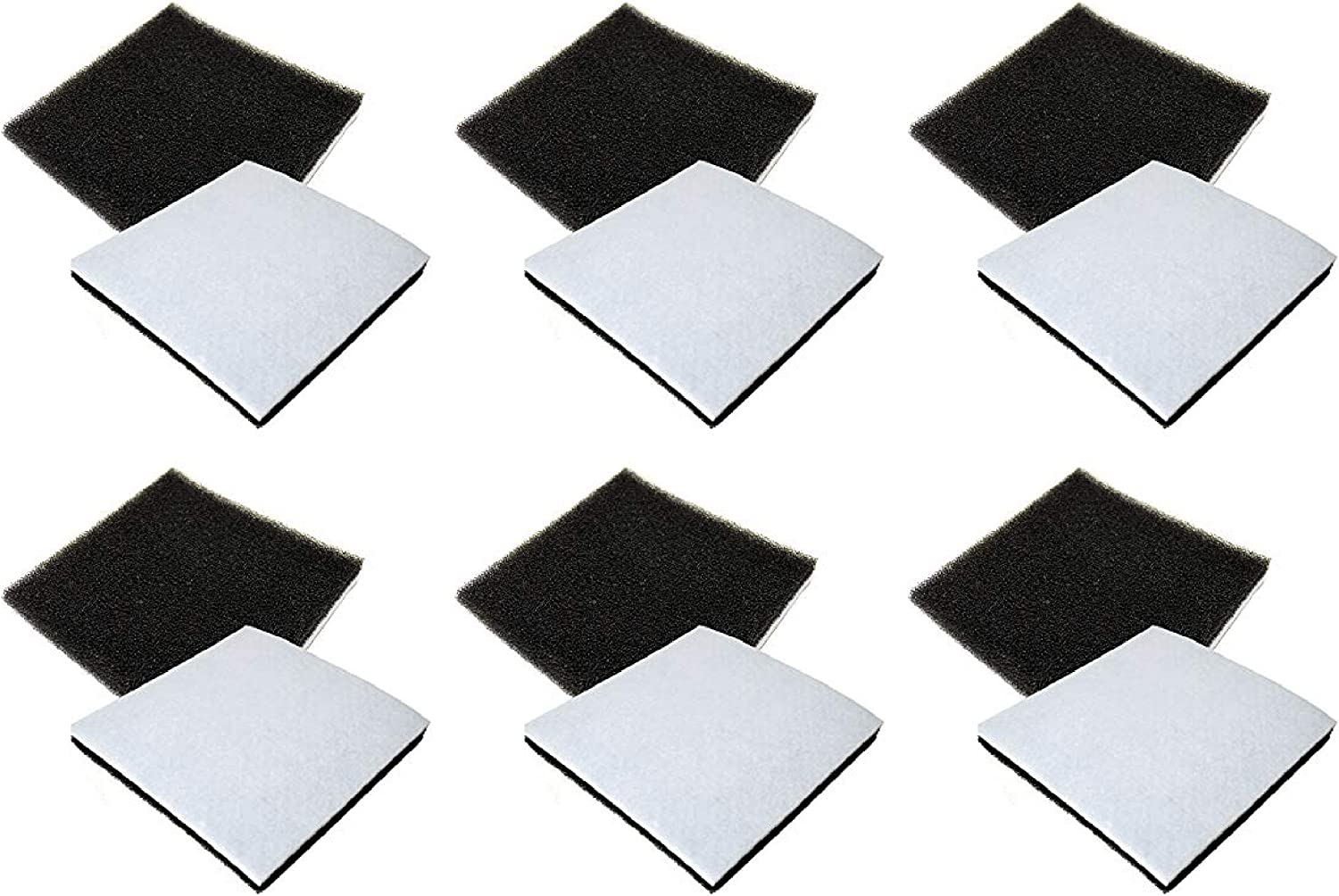 Nispira Replacement Filter Compatible with Sears Kenmore Progressive & Whispertone, Panasonic Vacuum. Compared to Part CF1 CF-1, 86883, MCV9568 and AC37KAKTZ000, 12 Filters