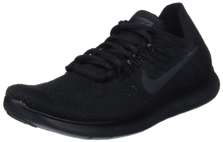 Nike Women's Free Rn Flyknit 2017 Running Shoes B078G7J8RM 8 B(M) US|Black