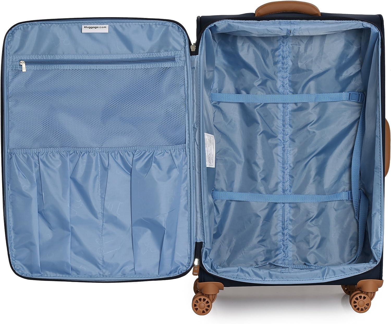 it luggage Aquatic 8 Wheel Lightweight Semi Expander Suitcase Cabin Koffer 56 cm
