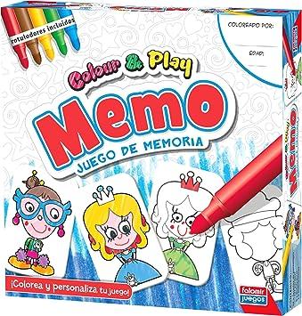 Falomir Color & Play Memo, Juego de Mesa, Manualidades, Multicolor (1): Amazon.es: Juguetes y juegos