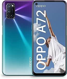 OPPO A72 Single-SIM 128GB (GSM Only | No CDMA) Factory Unlocked 4G/LTE Smartphone (Aurora Purple) - International Version