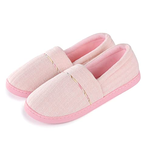 4a2c86a1851e Cellicigal Women Cotton Knit Anti-Slip Comfort Indoor Slippers Slip-On  Bedroom Home Shoes