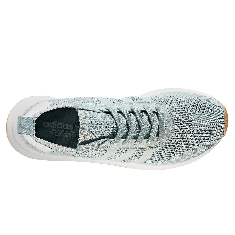 on sale d5ab1 13d25 Adidas Primeknit Flashback FLB. Blancas y Verdes. Zapatillas Deportivas  Running para Mujer Amazon.es Zapatos y complementos