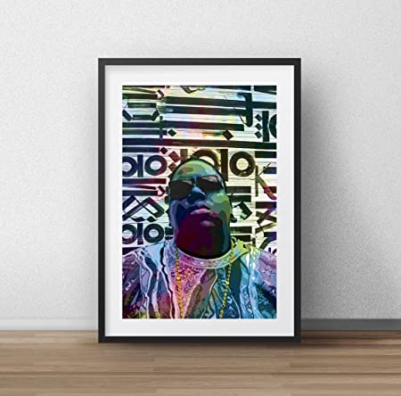 The Notorious B.I.G Biggie Crown Bespoke Poster Art Print A0 A1 A2 A3 A4 Maxi