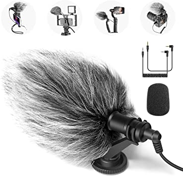 Neewer CM14 Mic Movil Mic Micrófono Video en Cámara Compatible con ...