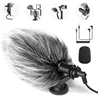 Neewer CM14 Mic Phone Mic on-Camera Video Microphone with Shock Mount, Windscreen and Audio Cables Compatible with…