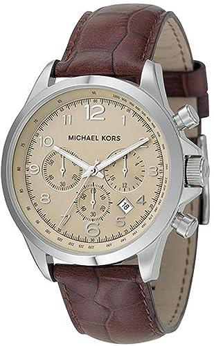 de4bc2c39924 MICHAEL KORS MK8115 - Reloj analógico de cuarzo para hombre con correa de  piel